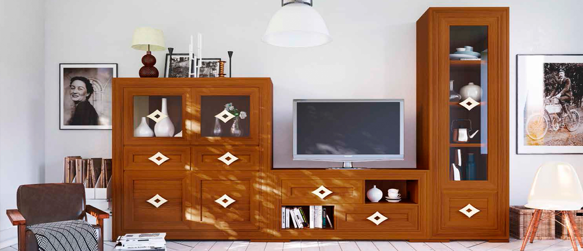 estanteria de madera para salon