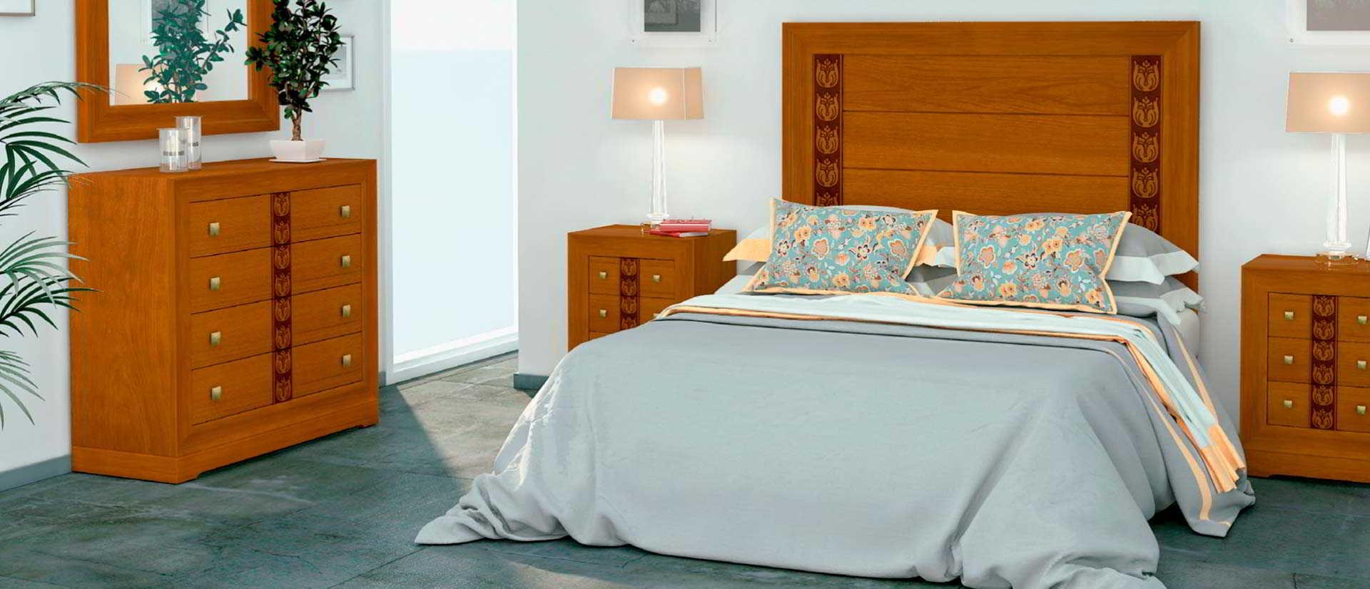 dormitorio de estilo clasico de madera