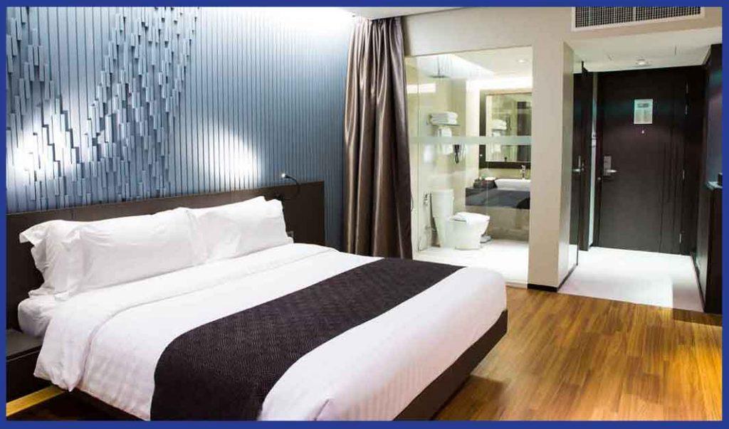 dormitorio minimalista en galicia