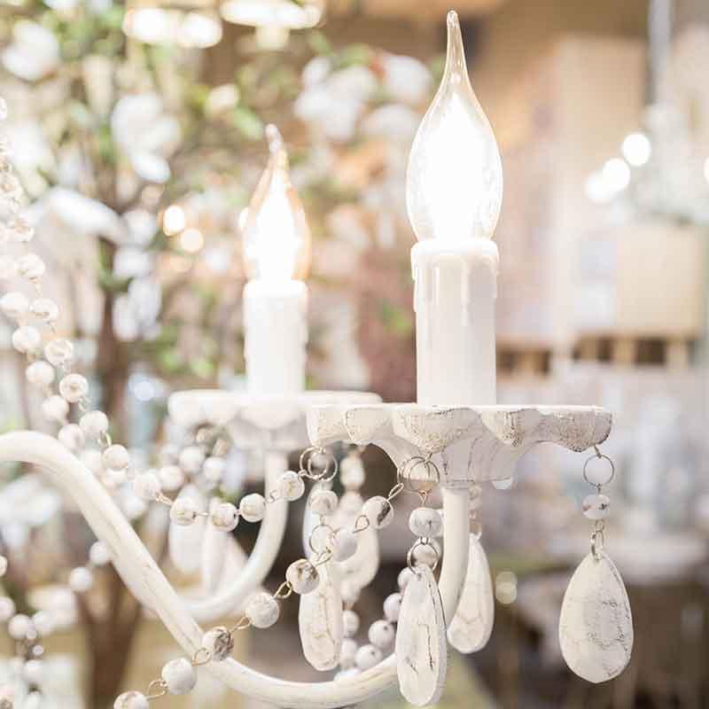lampara clasica con efecto velas