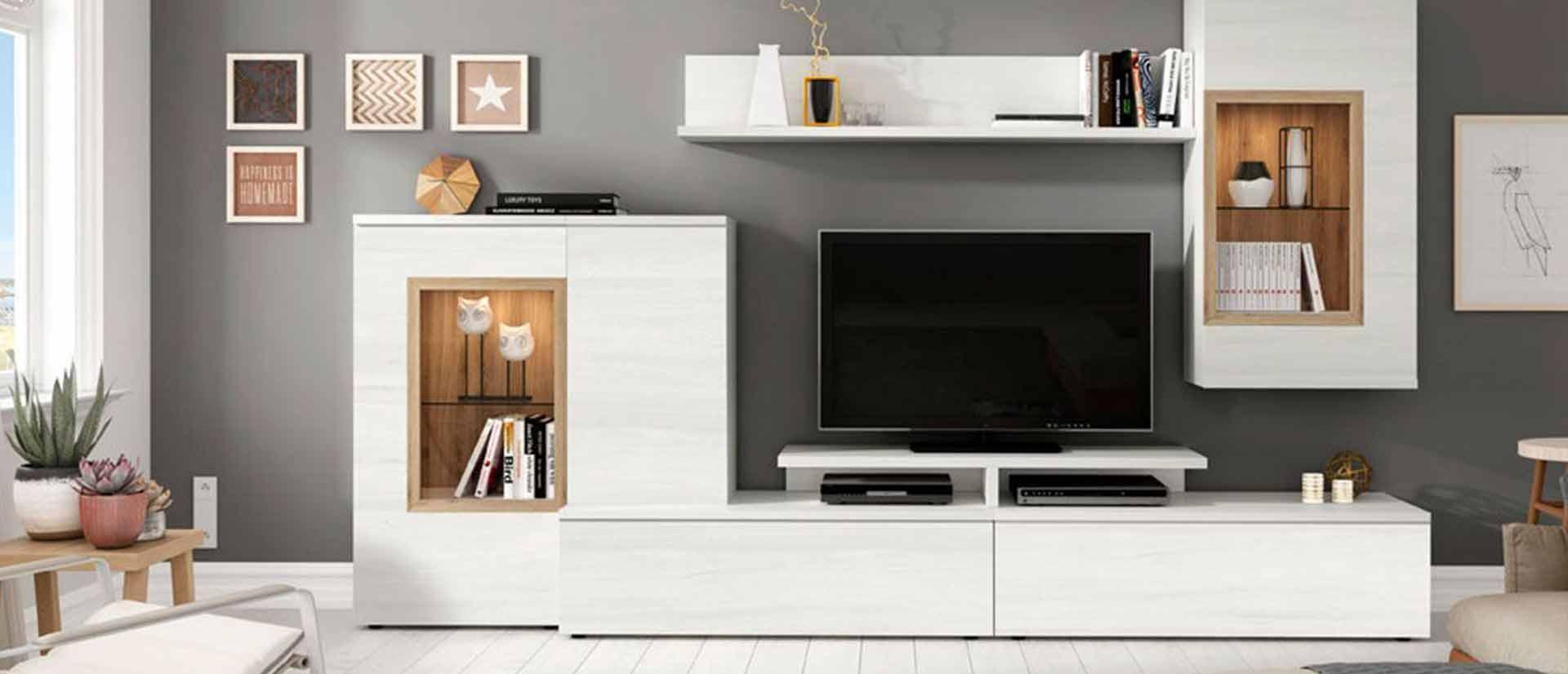 mueble para tv blanco